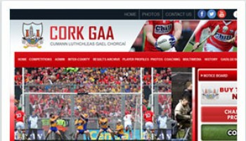Cork GAA Website developed by Sportlomo