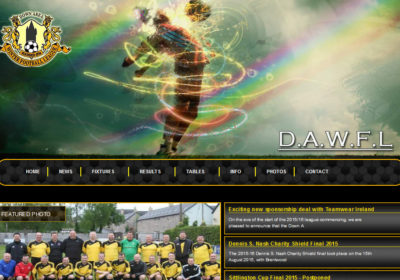 DAWFL, Down Area Winter Football League site just launched