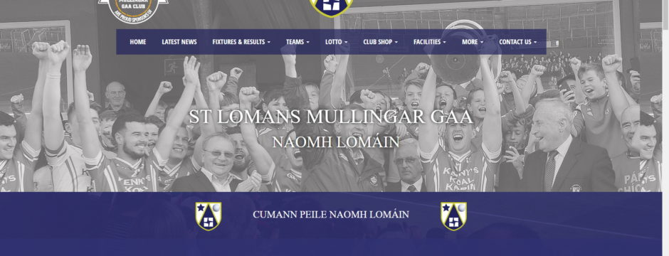 St Lomans GAA Mullingar mobile responsive website launched