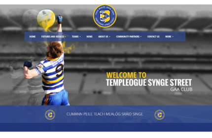 Templeogue Synge Street GAA Mobile Responsive website