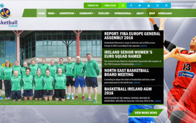 Basketball Ireland website masthead